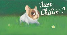 Just chiilin'? | Bulleke DIgital drawing of a french bulldog laying in the grass. This dog looks like he's chilling, but he's very mischievous