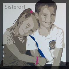 Kinderen  Leemkleuren met accentkleuren Popart-SisterArt