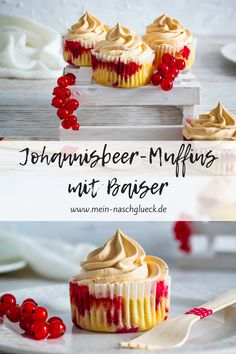 Currant muffins with meringue - ~ Food - Süßes, Kuchen & Desserts ~ - Donut Cookie Brownie Bars, Oatmeal Chocolate Chip Cookies, Brownie Recipes, Chocolate Recipes, Healthy Chocolate, Muffins Double Chocolat, Sugar Cookie Bars, Holiday Cookie Recipes, Cake Mix Cookies