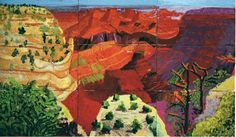 David Hockney - Canvas study of the Grand Canyon 1998 David Hockney Landscapes, David Hockney Artist, David Hockney Portraits, David Hockney Photography, Pop Art Movement, Classic Artwork, Painting Gallery, Arte Pop, Landscape Art
