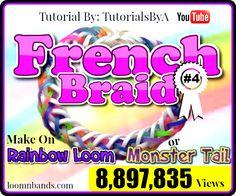 Rainbow Loom #4 French Braid Bracelet By TutorialsByA,png