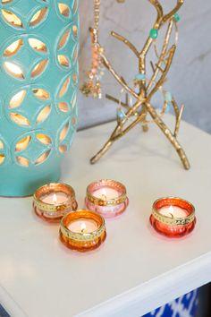 Glass Tea Light Holders Set of 4