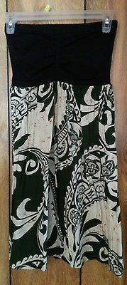 Womens handmade Hawaiian print tube top dress