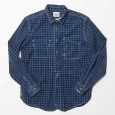 Made By Scrub Cotton indigo corduroy check shirt
