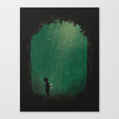 Buy Fireflies Canvas Print by lethargic lizard. Worldwide shipping available at Society6.com. Just one of millions of high quality products available.
