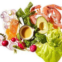 Seared-Shrimp Salad With Crispy Shallots