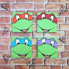 TMNT Teenage Mutant Ninja Turtles Mini Canvas by GrecnyArt on Etsy