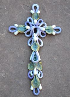 Fimo Clay Cross | Turquoise Butterfly