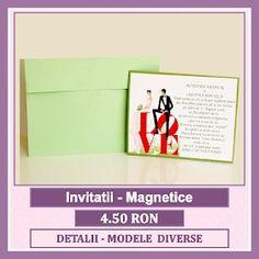 Invitatii nunta personalizate, unicat, marca bebestudio11. Cards, Wedding, Valentines Day Weddings, Maps, Weddings, Playing Cards, Marriage, Chartreuse Wedding