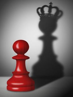 Chess pawn with the shadow of a king. Red chess pawn with the shadow of a king , Shadow Photography, Creative Photography, Art Photography, Shadow King, Chess Pieces, Jolie Photo, Red Aesthetic, Photo Manipulation, Color Splash