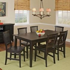 Black Dining Room Hutch Fresh Have to Have It Home Styles Arts and Crafts Dining Set Dining Room Hutch, Dining Room Table Chairs, Dining Room Sets, Dining Room Design, Dining Room Furniture, Furniture Ideas, Hutch Furniture, Kitchen Table With Storage, Kitchen Dinette Sets