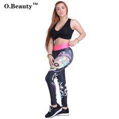 O.Beauty 2017 New Arrival Women Leggings Adventure Time Slim Elastic Pencil Pants Gothic Fashion Leggings for Women S M L XL