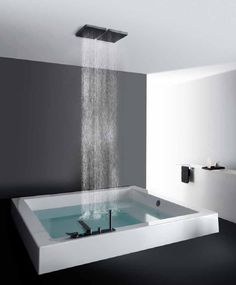 Square bathtub / methacrylate - GRANDE QUADRA: 1GEA8BI0CR by Ludovica & Roberto Palomba - KOS