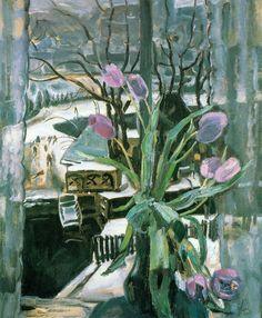 Jan Sluijters - Tulpen voor het Raam