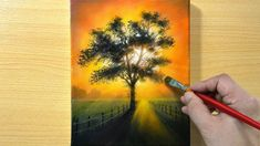 Canvas Painting Tutorials, Acrylic Painting For Beginners, Beginner Painting, Painting Videos, Easy Paintings, Diy Painting, Landscape Paintings, Acrylic Pouring Art, Acrylic Art