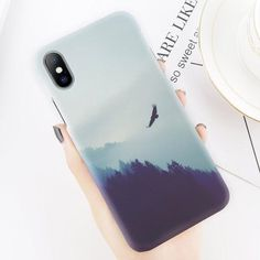 Mountain Peak Forest Design Phone Case For iPhone Iphone 7 Plus, Iphone 8, Iphone Phone Cases, Pc Cases, Cute Phone Cases, Galaxy S3, Ipod Touch, Diy Phone Case Design, Smartphone Covers