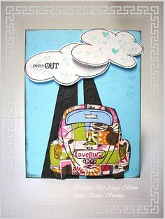 unity stamp company. kit used love bug, card created by unity design team member Angie Blom