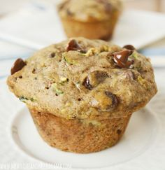 Zucchini Banana Muffins with Chocolate Chips are loaded with zucchini, bananas and lots of chocolate. They're super easy to make and perfect for breakfast!
