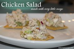 Chicken salad recipe made with green grapes!