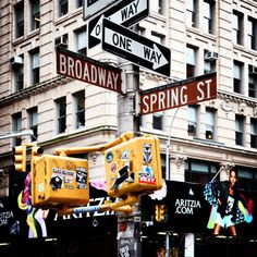 Signpost, Broadway, Manhattan, New York City, United States Wall Mural by Philippe Hugonnard at AllPosters.com