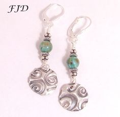 Fine Silver and Stone Earrings