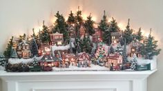 There are a few different ways to show your small gather or Christmas village from a window amid the Christmas season. Despite whether you plan on utilizing a garden style, sound, or essentially a level window. Christmas Tree Village Display, Lemax Christmas Village, Christmas Town, Christmas Mantels, Christmas Villages, Diy Christmas Ornaments, Christmas Holidays, Christmas Decorations, Holiday Decor