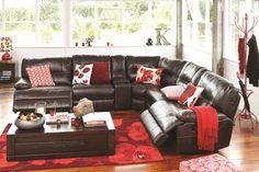 Dorset 5 Seater Fabric Corner Recliner Lounge Suite