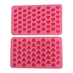 iHomeSpace Silicone Mini Heart Shape Ice Cube Candy Ice Cube / Chocolate Mold Pink Pack of 2 Ice Cube Chocolate, Chocolate Molds, Ice Cube Molds, Ice Cube Trays, Chocolates, Ice Cube Candy, Soap Bomb, Candy Making Supplies, Art Studio Design