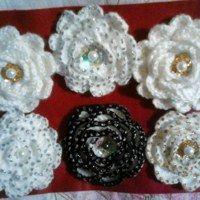 aplikace Crochet Earrings, Floral, Flowers, Jewelry, Jewlery, Jewerly, Schmuck, Jewels, Jewelery