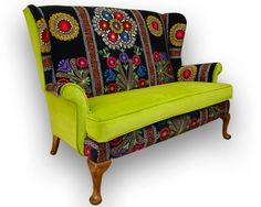 Patchwork Suzani Parker Knoll sofa by JustinaDesign on Etsy, £850.00