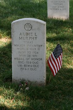 Audie Murphy's grave site was visited so often that a pathway had to be made so people could walk right up to the site and not mess up the grass!