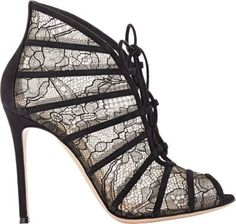 Gianvito Rossi Fresia Lace-Up Booties at Barneys New York