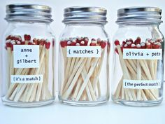 matches party favor (anniversary, wedding, engagement)