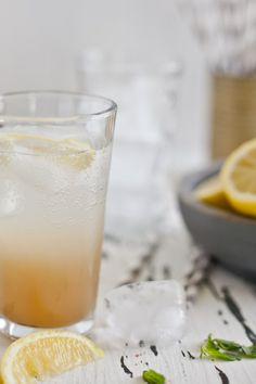 Ginger Lemongrass Basil Spritzer | Playful Cooking.