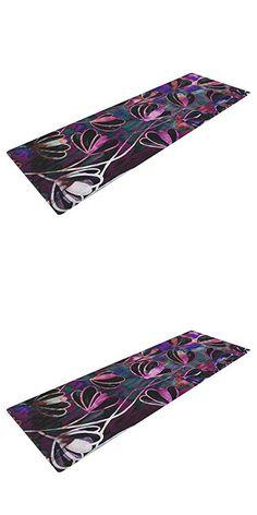 "KESS InHouse Ebi Emporium Efflorescence - Mixed Berry Exercise Yoga Mat, Pink Purple, 72"" by 24"""