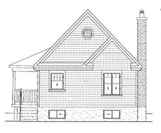 House Plan 49824 - Country Style House Plan with 613 Sq Ft, 1 Bed, 1 Bath Best House Plans, Small House Plans, House Floor Plans, Custom Home Designs, Custom Homes, Drummond House Plans, Country Style House Plans, Construction Process, Small House Design