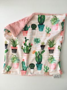 Items similar to Succulent cactus Minky Baby lovey peach, security blanket cactus bedding floral nursery gold nursery, double minky, blush pink, cacti on Etsy Gold Nursery, Floral Nursery, Baby Lovey, Baby Baby, Baby Girl Blankets, Baby Girl Bedding, Everything Baby, Security Blanket, Baby Accessories