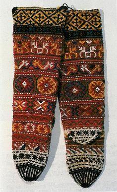Women's socks,19th century, the village of Yakoruda, Razlog region