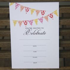 I'm selling Banner Party Invitations - pack of 10 - A$6.00 #onselz