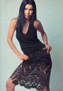 Black Lace Skirt free crochet graph pattern