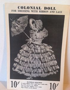 Vintage 1950's DolLeeDolls Colonial Doll by HummingbirdTraveler
