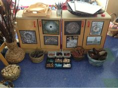 Myers' Kindergarten: Nature Inspired Art (Loose Parts) Inquiry Based Learning, Project Based Learning, Early Learning, Experiential Learning, Reggio Inspired Classrooms, Reggio Classroom, Classroom Organisation, Nursery Organisation, Outdoor Classroom