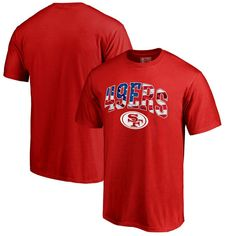 San Francisco 49ers NFL Pro Line by Fanatics Branded Banner Wave T-Shirt - Red