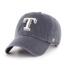a2a0270e3 Texas Rangers 47 Brand Vintage Navy Clean Up Adjustable Hat