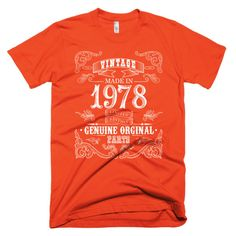 Made in 1978 Aged to perfection Short sleeve men's t-shirt
