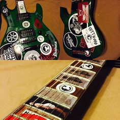 repost@johnsmithphenomenon My collection of vape stickers! I have a lot of room for more too  #guitar #vapegear #vapesticker #ltd #esp #betty #pinupvapors #cuttwood #thesauceboss #atomizerwick #foggluid #govape #kingscrown #asmodus #birdbrains #cottonbacon #thecloudcompany #suicidebunny #vaporrange #ibanez #motovape #dunlop