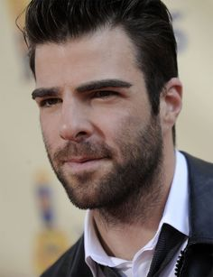 Or maybe Zachary Quinto just has a bad-boy version of a young Fred MacMurray thing going on now.  Either way...it's working!