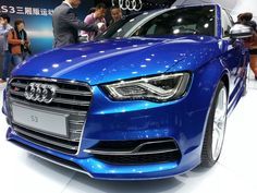 Killer Blue Audi S3 Sedan. Who's excited for this little beast to come out!