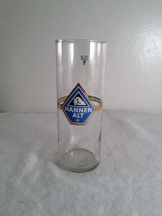 Hannen Alt .4L beer glass 6.75in by ugliducklings on Etsy