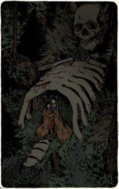 """Workshop — """"Fables of the northern forest"""" Elena Kononenko. Arte Horror, Horror Art, Art And Illustration, Art Sinistre, Creepy Art, Wow Art, Aesthetic Art, Dark Art, Art Inspo"""